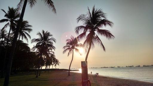 Aj toto je Singapur, konkrétne pláž na East Coast