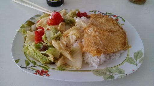 Rýža s vajíčkom a zeleninou, veď ako inak