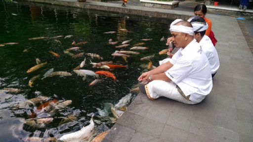 Holy Water Temple v Istana Tampak Siring