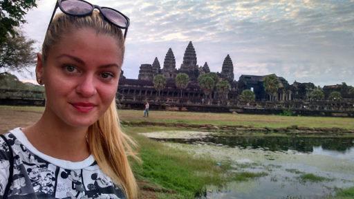 Opuchlinka o 6 ráno s Angkor Watom