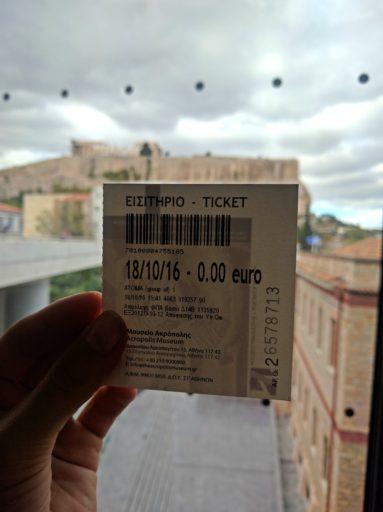 Dôkaz namiesto sľubov a môj lístok do Acropolis Musea úplne zadarmo!